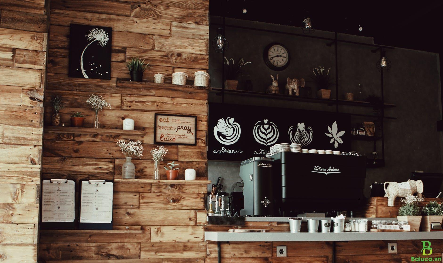 Setup quán cà phê nhỏ