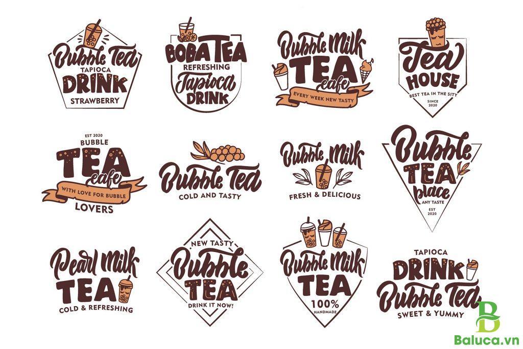 Thiết kế logo quán trà sữa